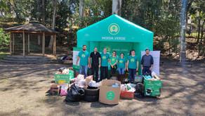 Moeda Verde e comunidade recolhem 300 kg de resíduos