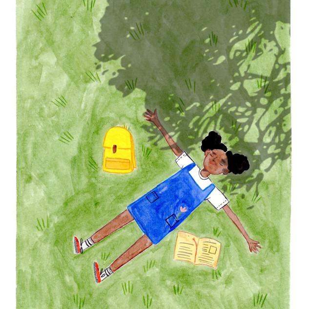 "Illustration for ""Brightness Magazine"", monthly contest, theme: ""Freedom"""