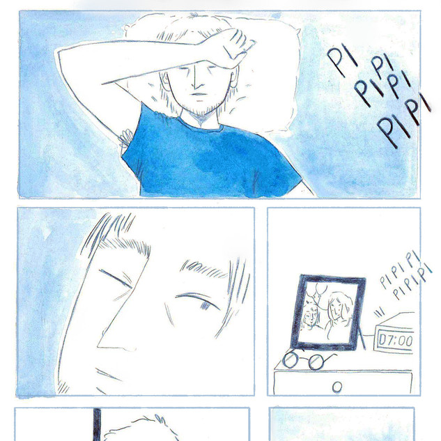 """Blue"", short comic I made during my MA Children's Books and Graphic Novels at Middlesex University, 2019."