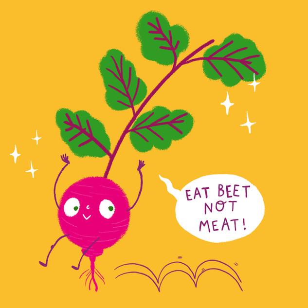 Illustration to promote veganism