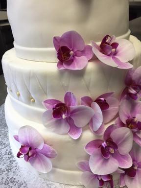 Hochzeitstorte Orchidee