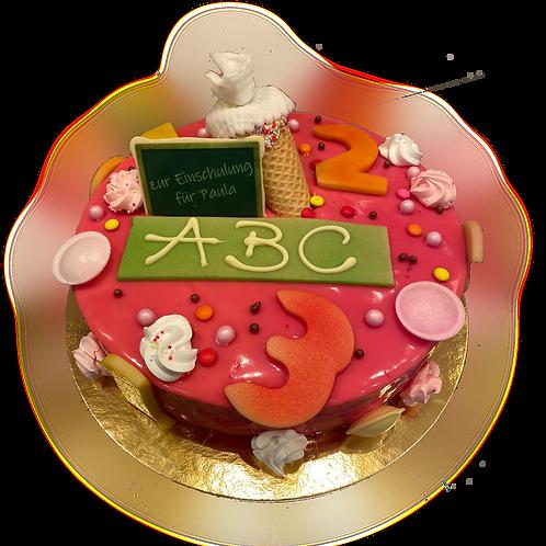 Einschulungs-Torte rosa
