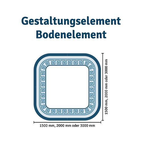 Half-round floor element