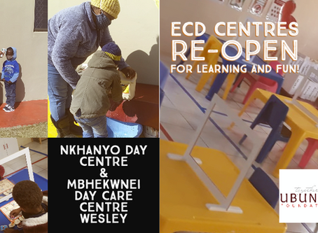 ECD Centres Re-Open for Learning and Fun!