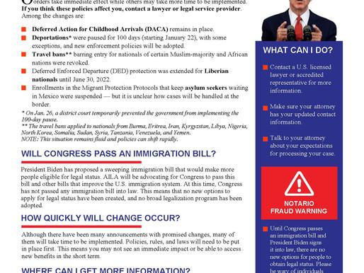 President Biden's Immigration Changes