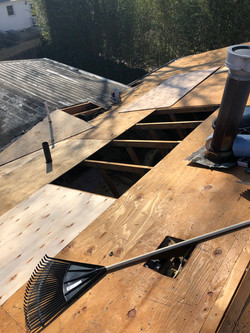 Rotted plywood on a new roof job