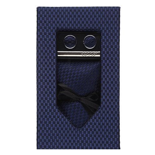 Barata Formal Slim Ties For Men, Formal Gift Ties Set For Men,Blue