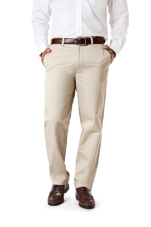 Ruan 100% Cotton Chinos Formal Trousers for Men Slim fit, Cream
