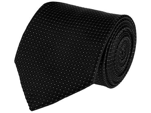 Barata Formal Ties For Men, Black Tie Formal Broad (Black8.8cmG1