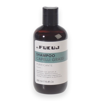 Shampoo for greasy hair with nettle, sage and rosemary ml 250