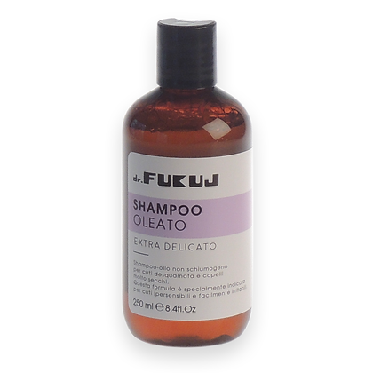 Oiled hair shampoo for very delicate skin