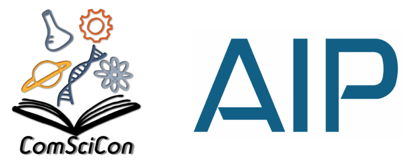 ComSciCon and American Institute of Physics logos