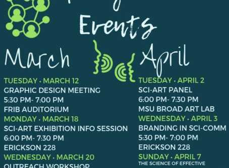 Upcoming MSU SciComm Events
