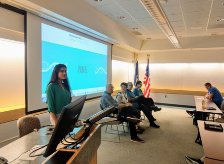 MSU SciComm leads science communication session for REU students