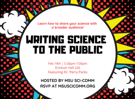 Science Writing to the Public Workshop 2/19/19