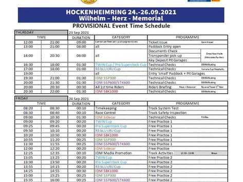 Zeitplan IDM Hockenheimring