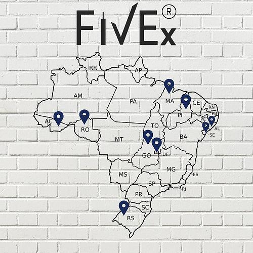 Mapa FIVEx Cidades