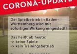 Spielbetrieb Amateurfußball in Baden-Württemberg ausgesetzt