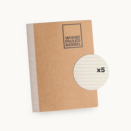 "Classic (8.5x11"") Wide Ruled 5-Notebook Bundle"