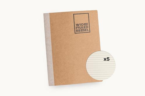 "Classic (8.5x11"") College Ruled 5-Notebook Bundle"