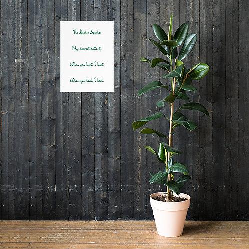 Poster: The Healer Speaks 8 GREEN