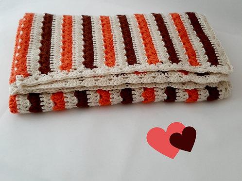 Autumn Stripe Baby Blanket