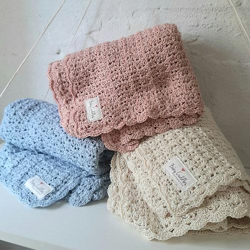 Lightweight Crocheted Baby Blanket