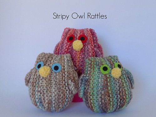 Stripy Owl Rattles