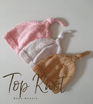 Top Knot Baby Beanie