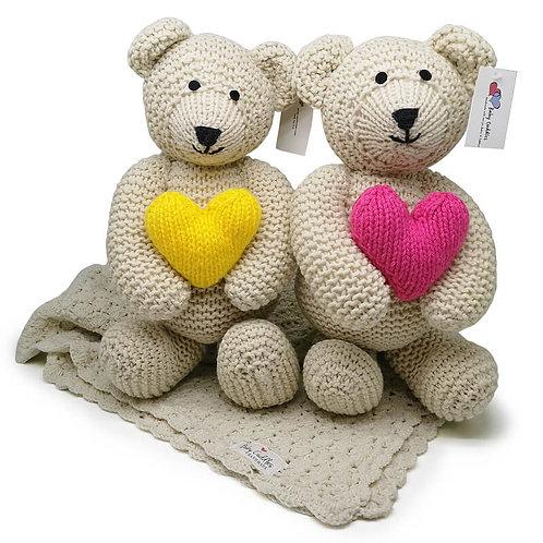 Cream Touch My Heart Bears