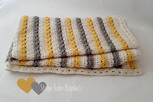 Spring Stripe Baby Blanket