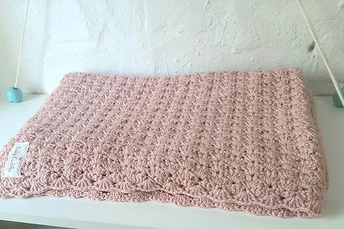 Salmon Crocheted Baby Blanket