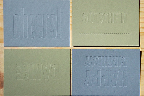 CARDS EMBOSSED