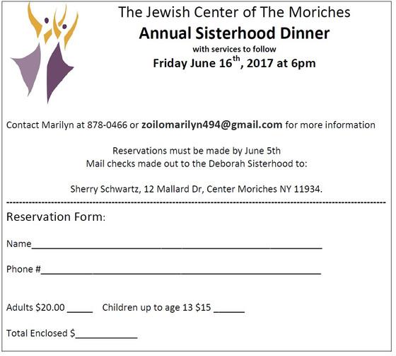 Annual Sisterhood Dinner