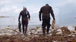 Seaweed harvesting Mike Webb and Hugh Wi