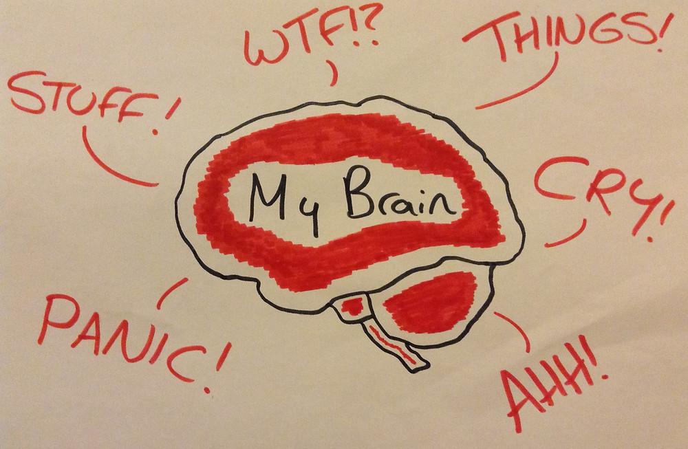 My brain is leaking bad stuff...