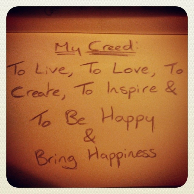 My Creed...