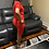 Thumbnail: Women's Red Short Set With Mesh Sleeves