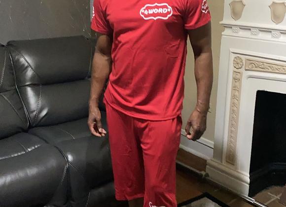 Men's Red Short Set