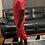 Thumbnail: Men's Red Pin Stripe Short Set