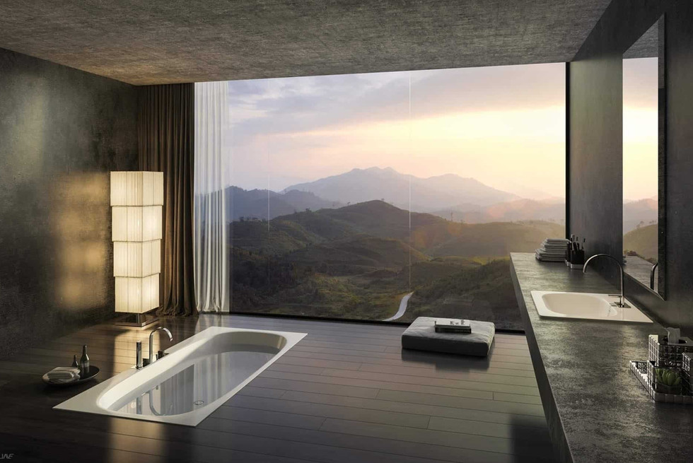 mountain-view-from-a-sunken-tub-a-gorgeo