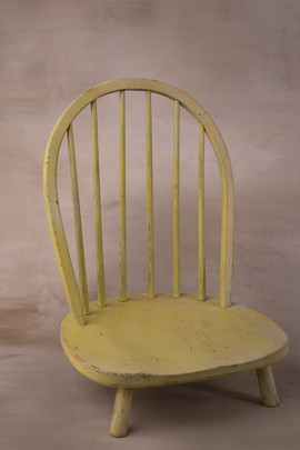 Short yellow chair