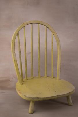 Short yellow chair