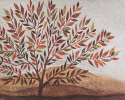A-3 Fall Watercolor Tree Leaves