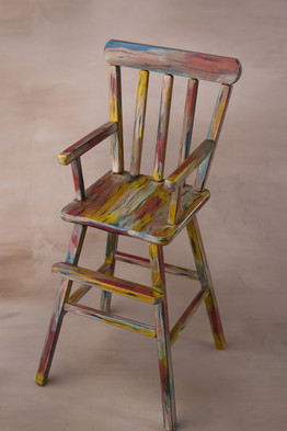small painted high chair