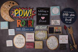 Assorted signs