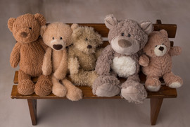Assorted teddy bears