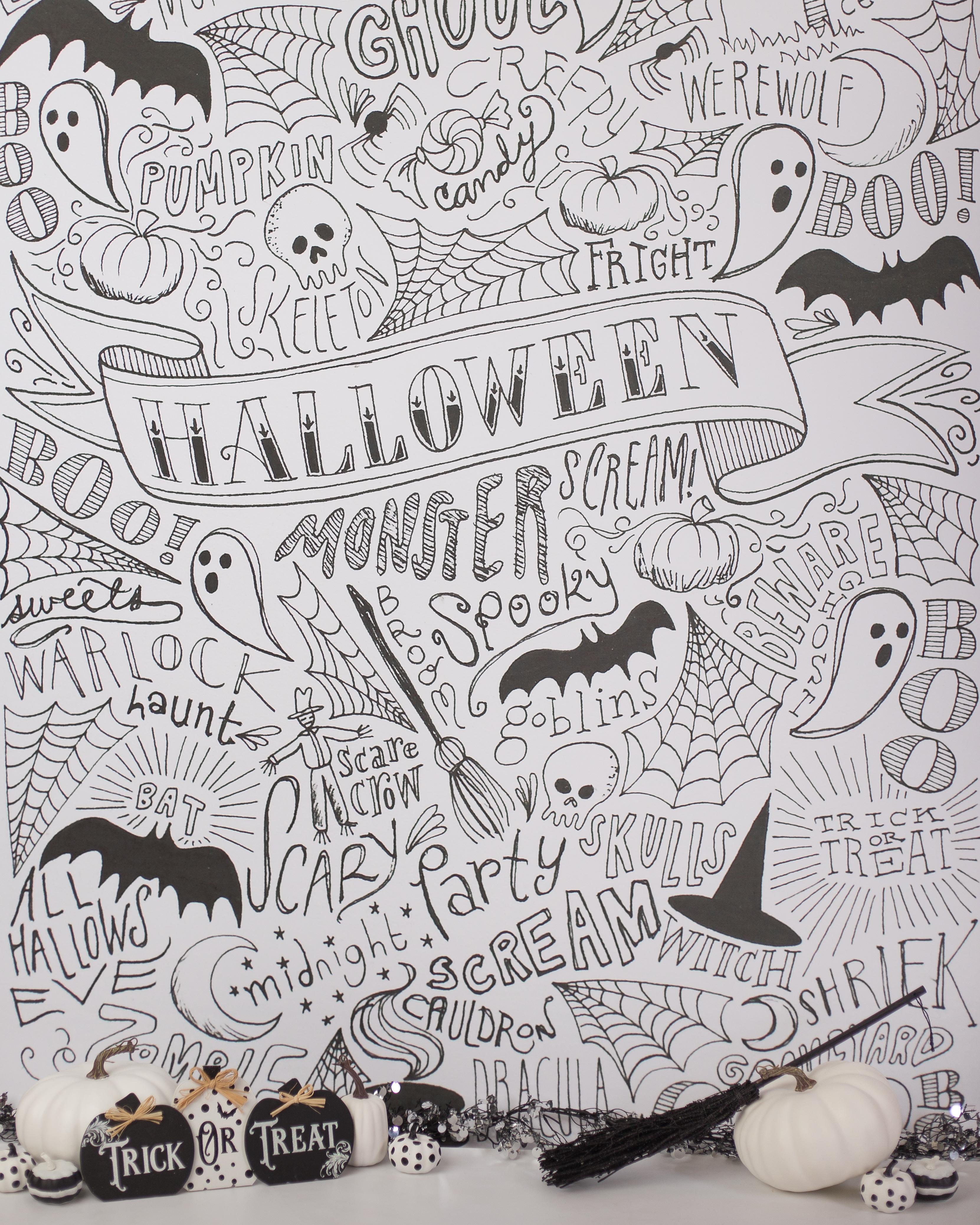 H-1 Halloween Word Scatter