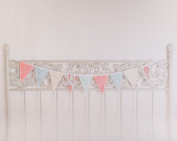 F-5 Metal Headboard with Banner