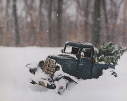 W-2 Winter Truck in Snow